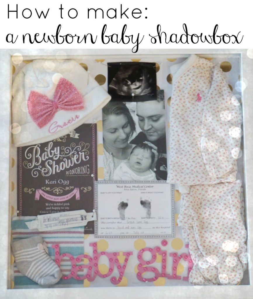 DIY Baby Shadowbox