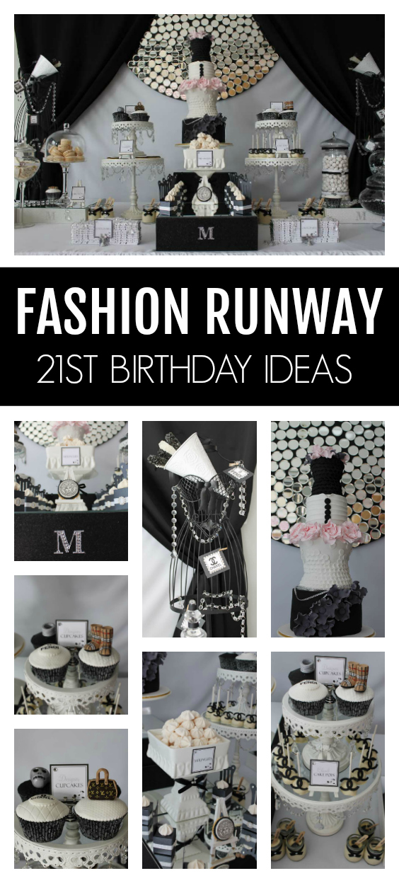 Runway Catwalk 21st Birthday Party on Pretty My Party