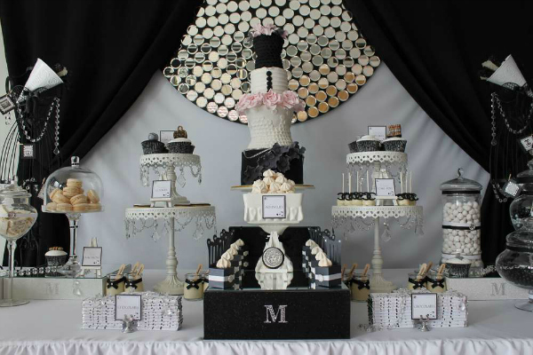 Fashion Runway Party Dessert Table