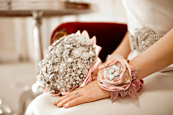 Brooch Wedding Bouquet and Corsage
