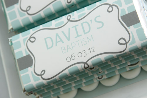 Personalized Baptism Chocolate Bar