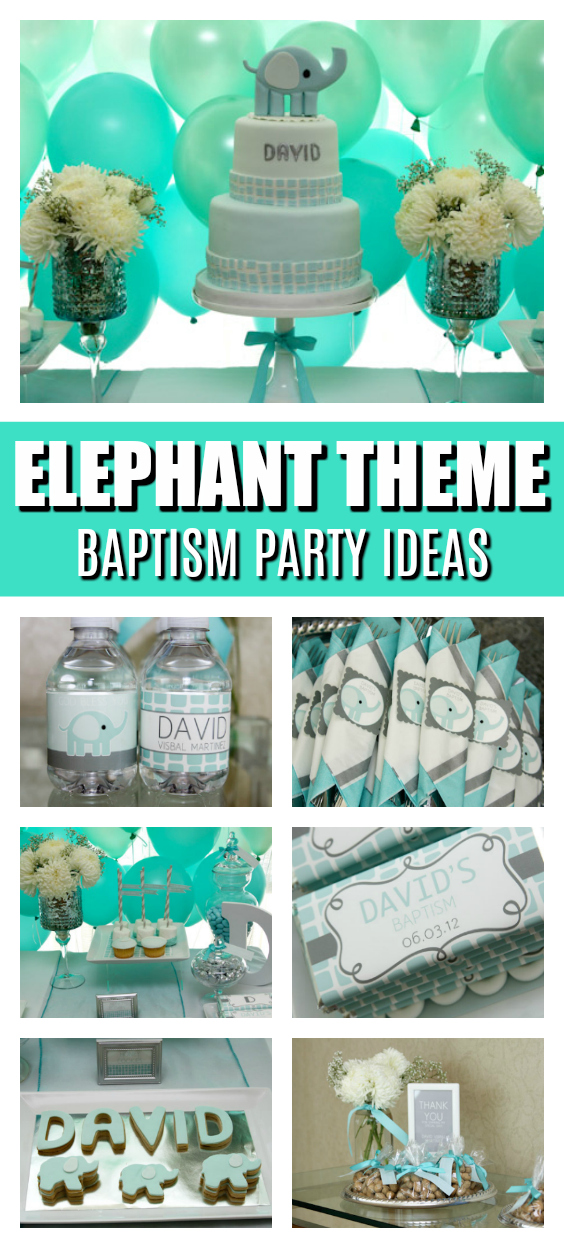 Elephant Themed Baptism Party Ideas on Pretty My Party