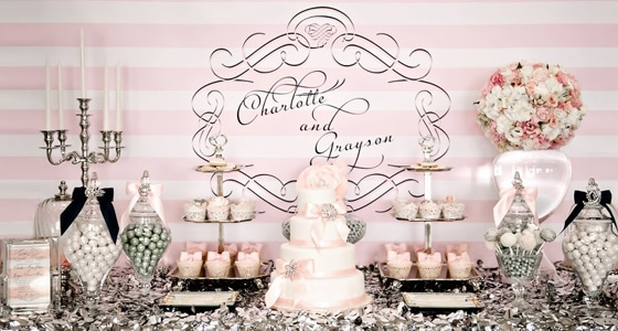 Pink And Silver Dessert Table Pretty My Party Party Ideas