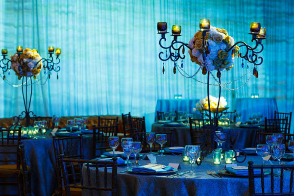 Gorgeous Blue Wedding Reception Ideas