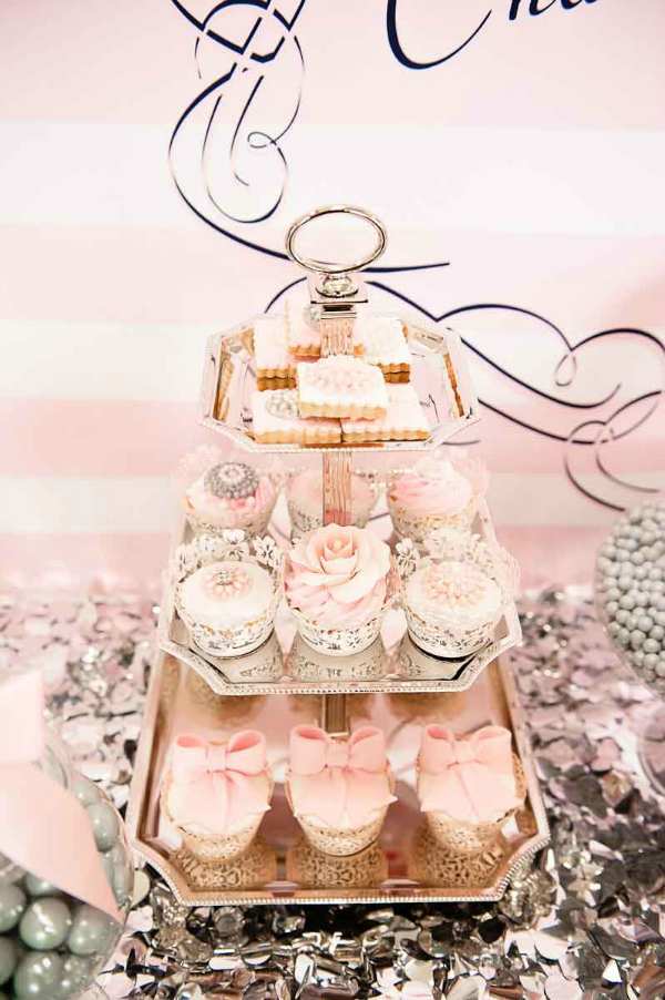 Pink and white desserts