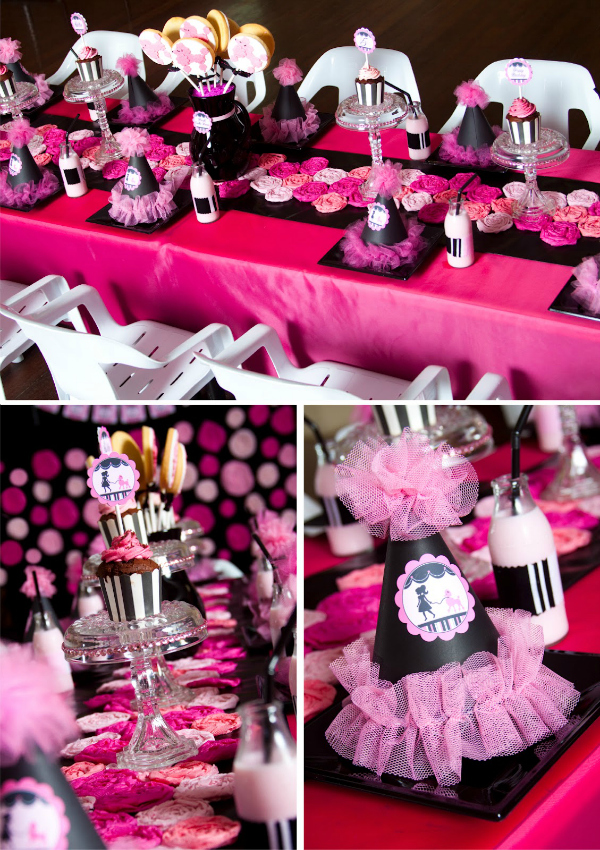 Pink Poodle Party able Decorations