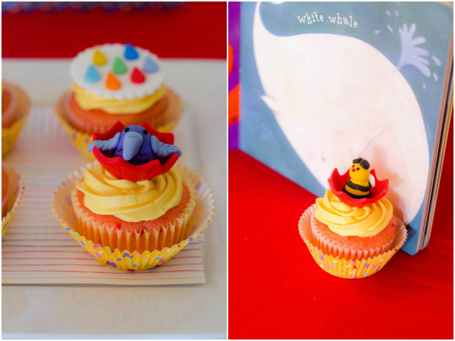 Raindrops Book Party Cupcakes