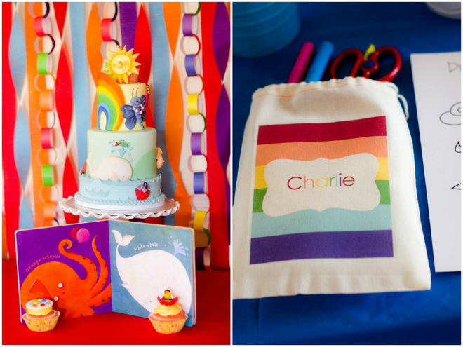 Colorful Raindrops Book Party Ideas