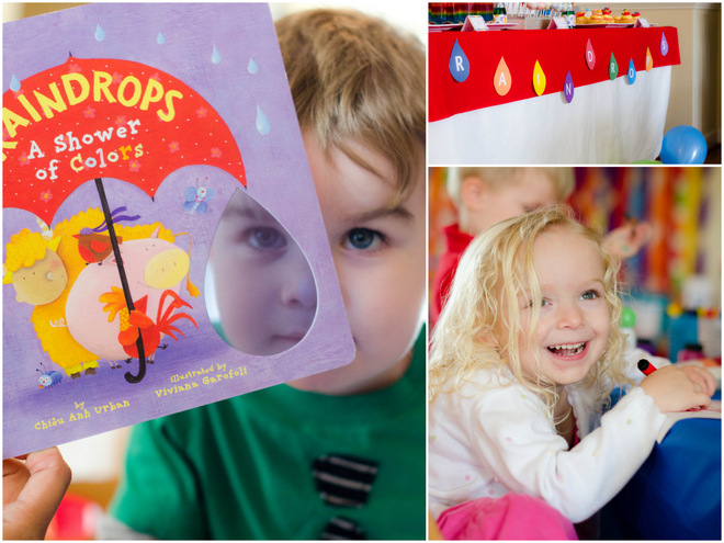 Raindrops Book Party For Kids