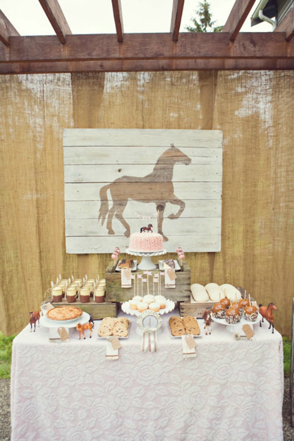 Vintage Pony Party Dessert Table