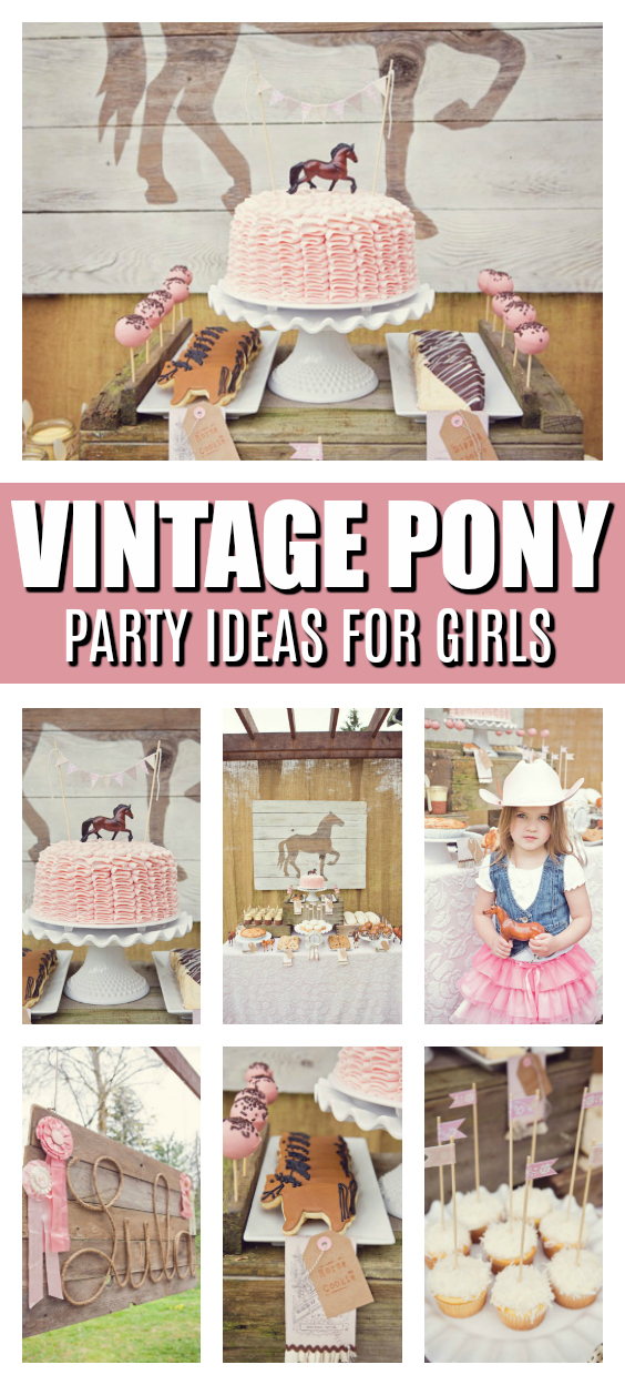 Vintage Pony Party on Pretty My Party
