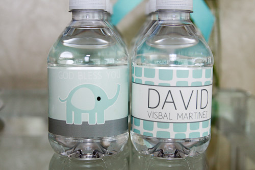 Elephant Printable Water Bottle Labels