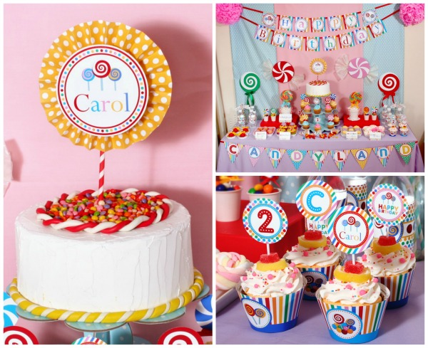 Colorful Candyland Birthday Party | Pretty My Party  sc 1 st  Pretty My Party : candyland birthday party ideas decorations - www.pureclipart.com