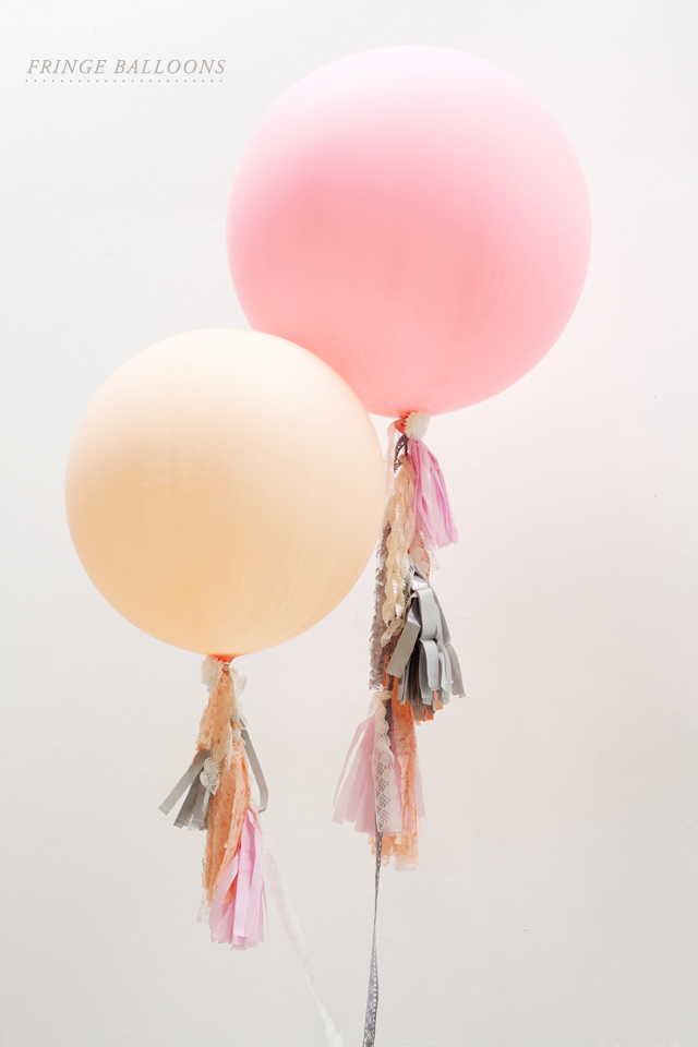 DIY Fringe Balloons on Pretty My Party