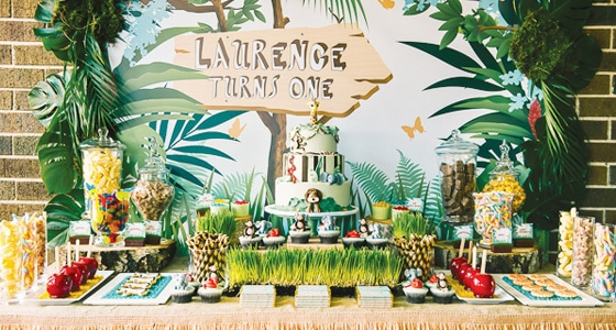 jungle themed first birthday - pretty my party