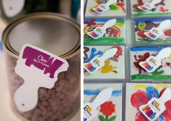 Art Party Paint Brush Tags