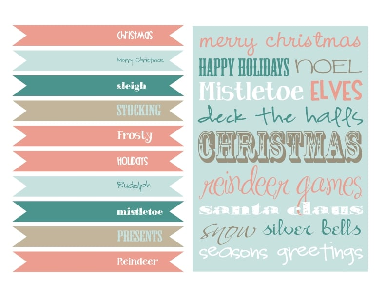 Free Vintage Holiday Printables - Pretty My Party
