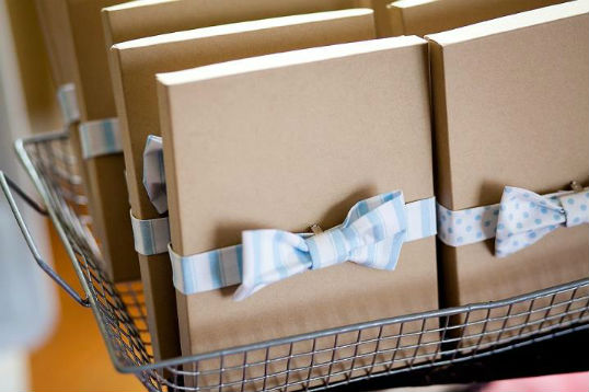 Boy Party Favor Boxes With Bow Ties