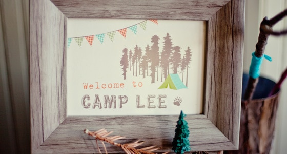 Camping Inspired Baby Shower Pretty My Party Party Ideas