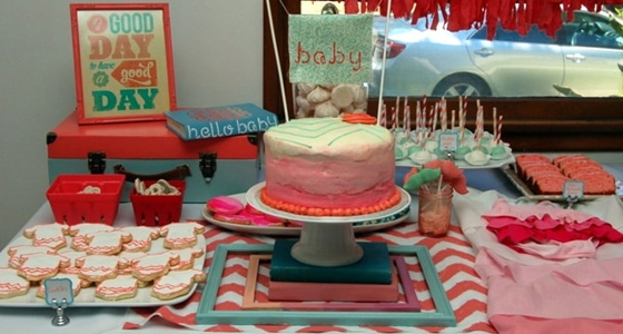 Coral And Turquoise Baby Shower Pretty My Party Party