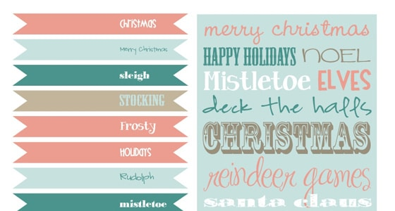 Free Christmas Printables With Favorite Movie Quotes: Free Vintage Holiday Printables