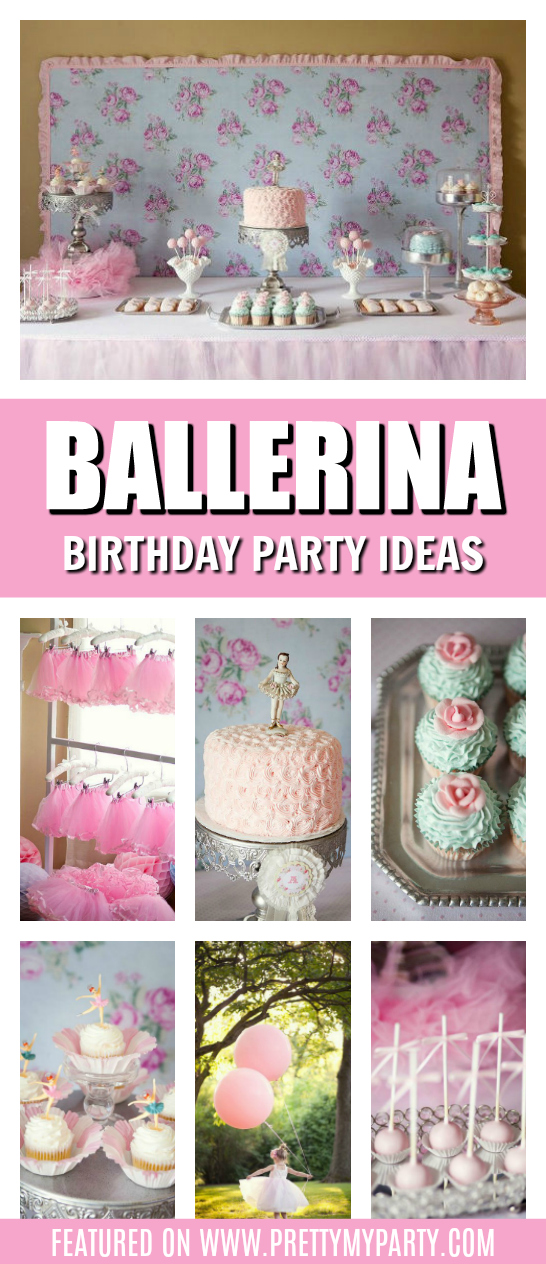 Sweet Ballerina Birthday Party on Pretty My Party