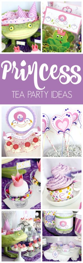 Purple Princess Tea Party featured on Pretty My Party