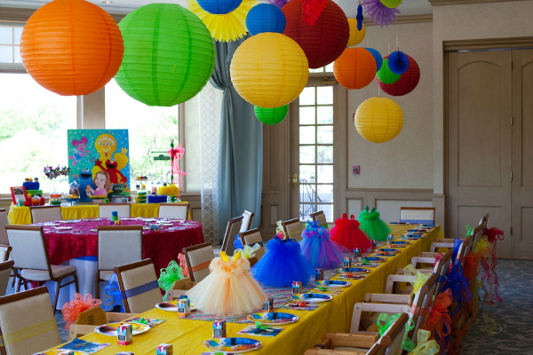 Sesame Street Party Tables