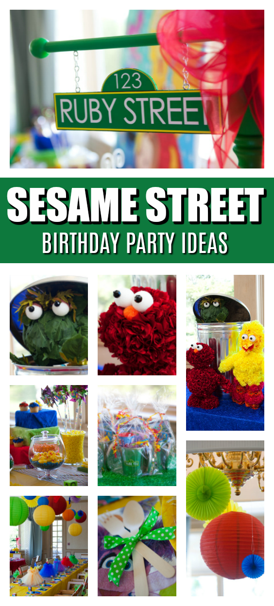 Sesame Street Birthday Party on Pretty My Party