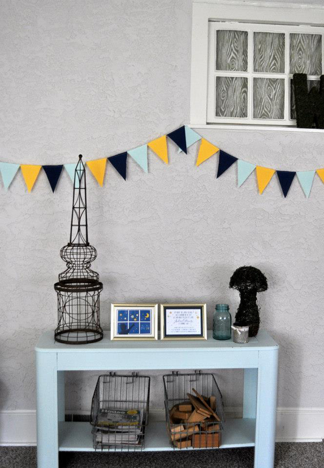 Blue and Yellow Party Bunting Decoration