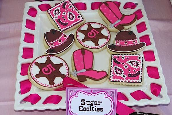 Cowgirl Party Cookies | Cowgirl Party Ideas