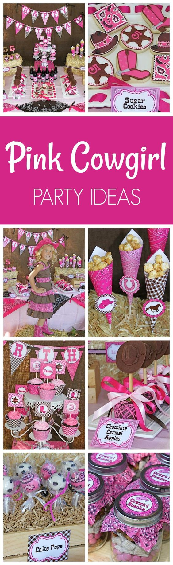 Cowgirl Themed Birthday Party Ideas - Pretty My Party