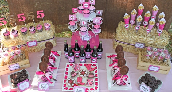 Cowgirl Themed Birthday Party Pretty My Party Party Ideas