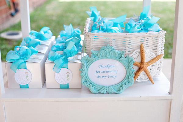 Mermaid Under the Sea Party Favors