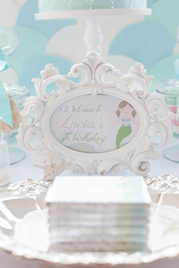 Mermaid Under the Sea Party Sign