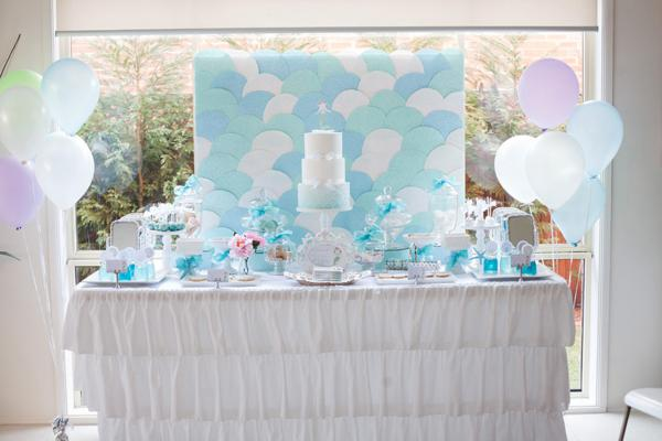 Mermaid Under the Sea Party Table