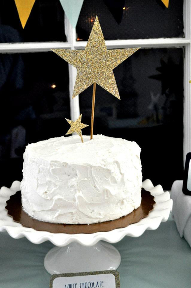 Birthday Cake With Star Toppers