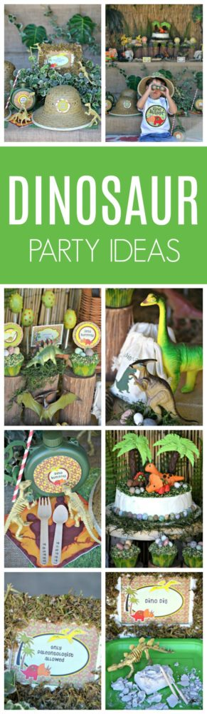 Dinosaur Adventure Birthday Party featured on Pretty My Party