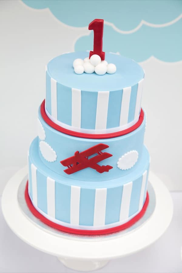 Vintage Airplane First Birthday Party