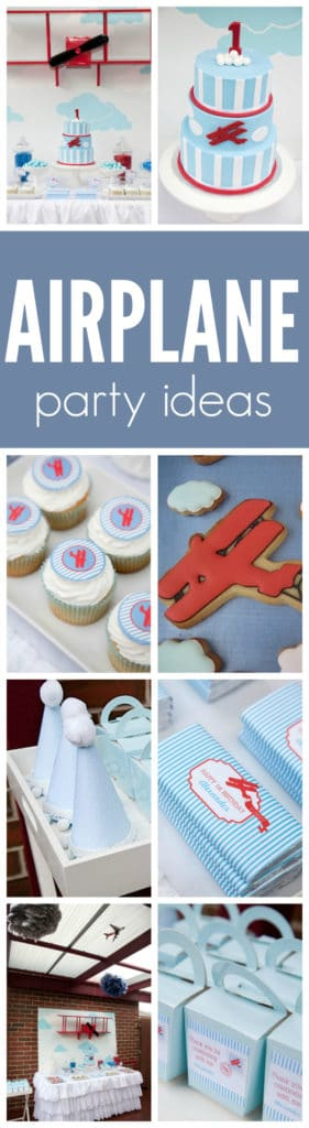 Vintage Airplane First Birthday Party featured on Pretty My Party