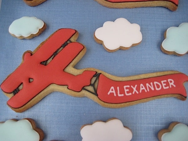 Personalized Airplane Cookie