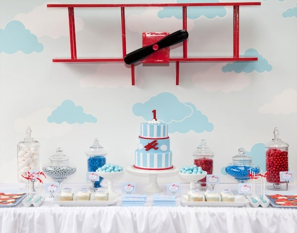 Vintage Airplane Party Dessert Table