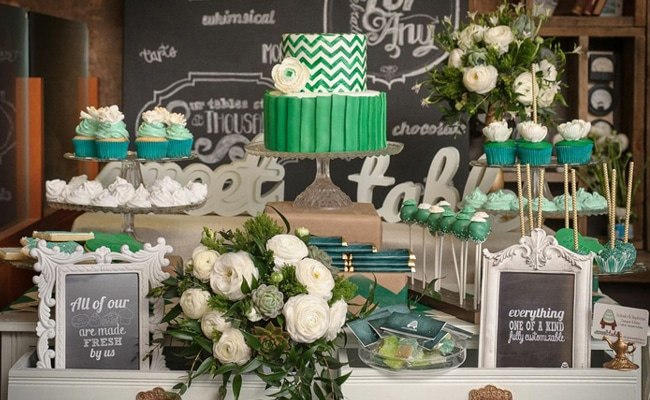 Emerald Dessert Table Feature Tag Archives Pretty My Party