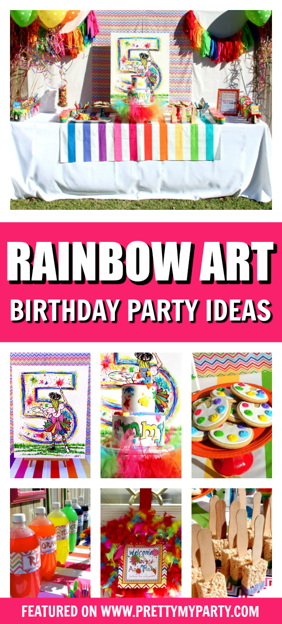 Rainbow Art Party on Pretty My Party
