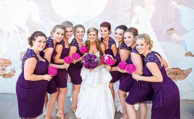 Modern Purple Arizona Wedding