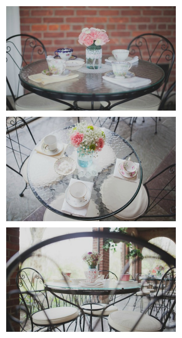 Tea Party Bridal Shower Tables