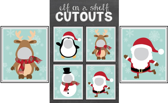 Free Elf On The Shelf Cutout Printables Pretty My Party