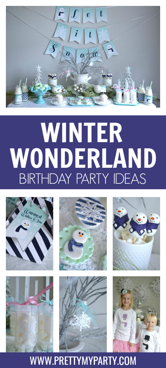 Let It Snow Winter Wonderland Party Ideas on Pretty My Party