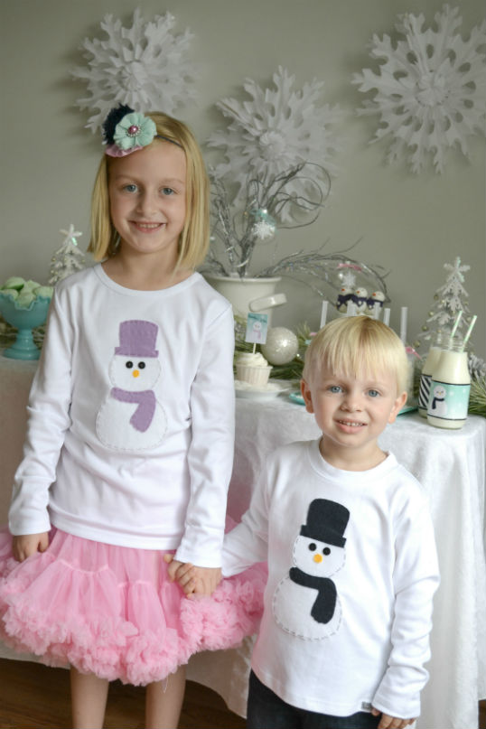 Adorable Snowmen Shirts For Kids