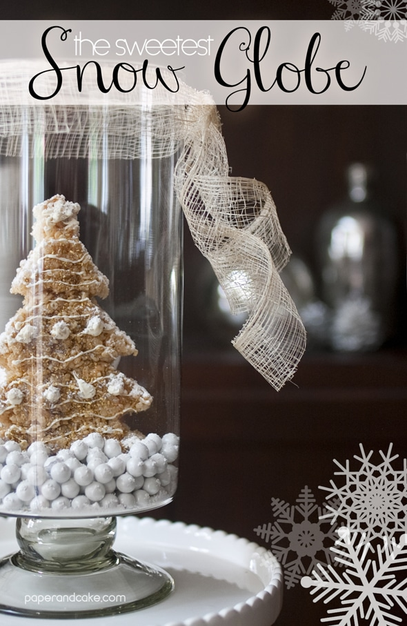 DIY Holiday Snow Globe